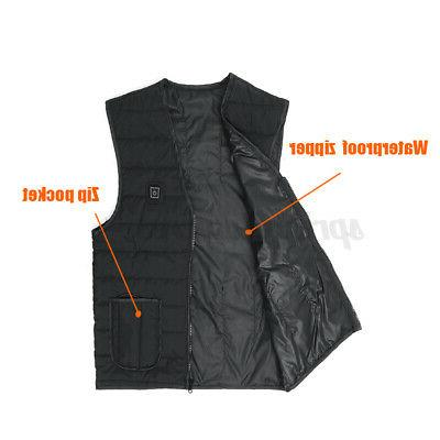 Unisex Electric Winter Jacket Adjustment Temp