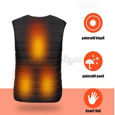 Unisex Heated Vest Winter Jacket
