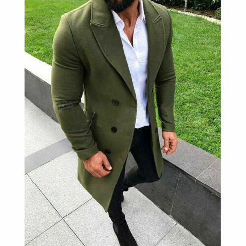 US Men Winter Trench Overcoat Tops