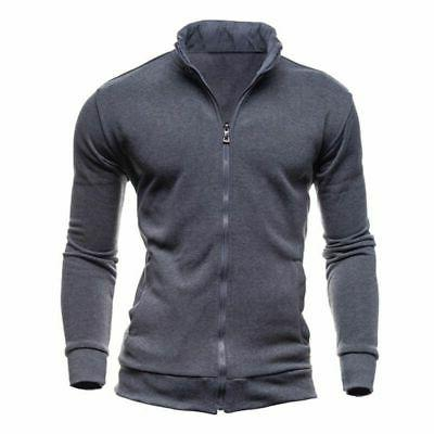 US Men Hoodie Coat Fit Zipper