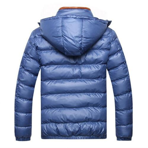 US Hooded Thick Padded Zipper Casual Outwear Coat