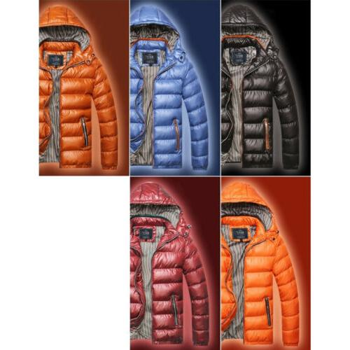 Men Bubble Hooded Winter Outerwear