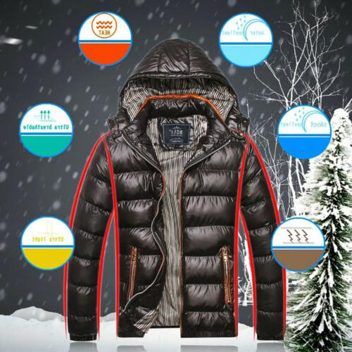 Men Bubble Hooded Lightweight Winter Outerwear