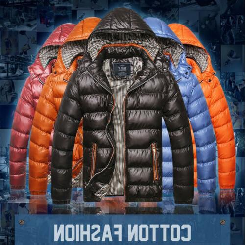 Men's Winter Hooded Thick Padded Casual Parka Outwear US