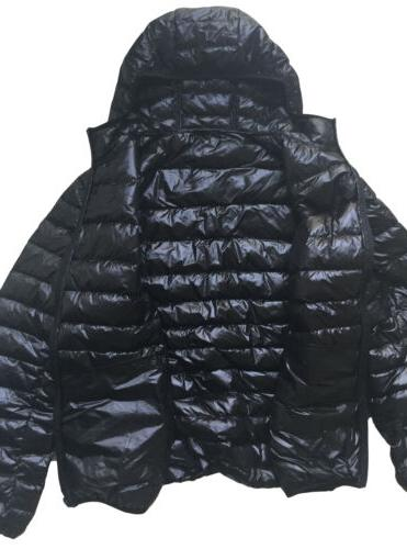 US Men's Hooded Ultralight Down Jacket Packable