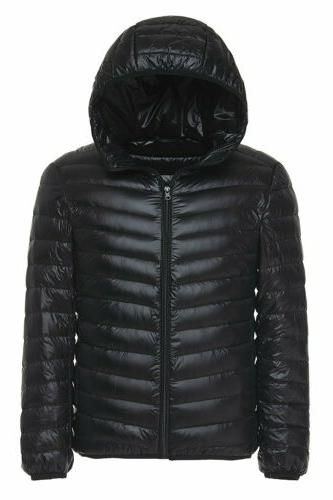 us men s winter warm hooded ultralight