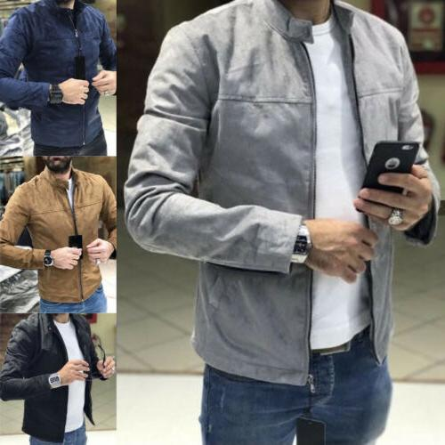 US Men's up Slim Tops Long Sleeve Casual Coat Outerwear