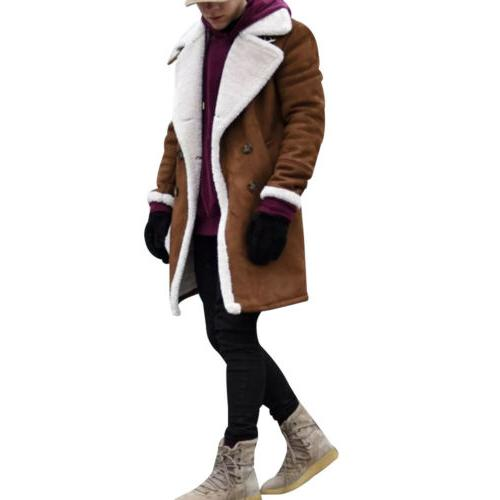 US Coat Winter Warm Trench Outwear Sleeve Jacket
