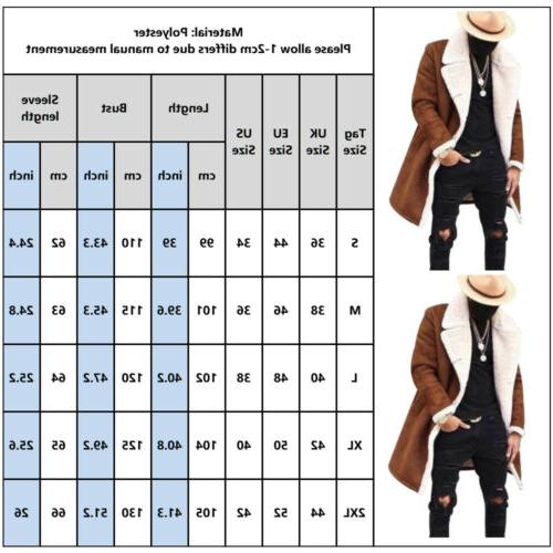 US Men's Wool Coat Winter Warm Outwear Sleeve Jacket