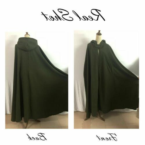 US STOCK Hooded Blend Cape Cloak Costume Coat