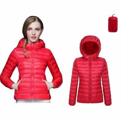 Women Packable Down Jacket Ultralight Winter Hoodie Puffer US