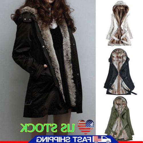 us women thick winter coats hooded parka