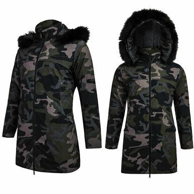 USA Collar Jacket Parka Coat Black