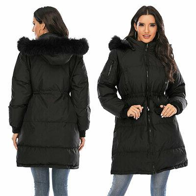 USA Winter Collar Hooded Long Jacket