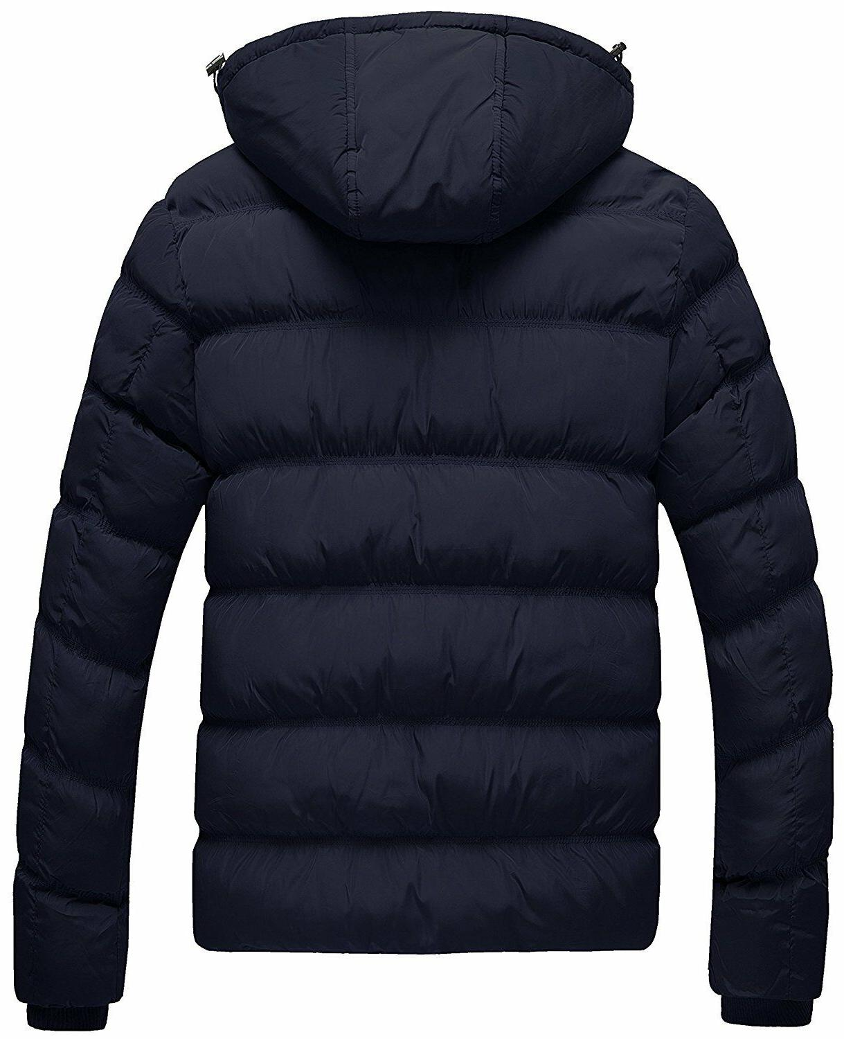 Wantdo Men's Cotton Coat Jacket with Removable Hood