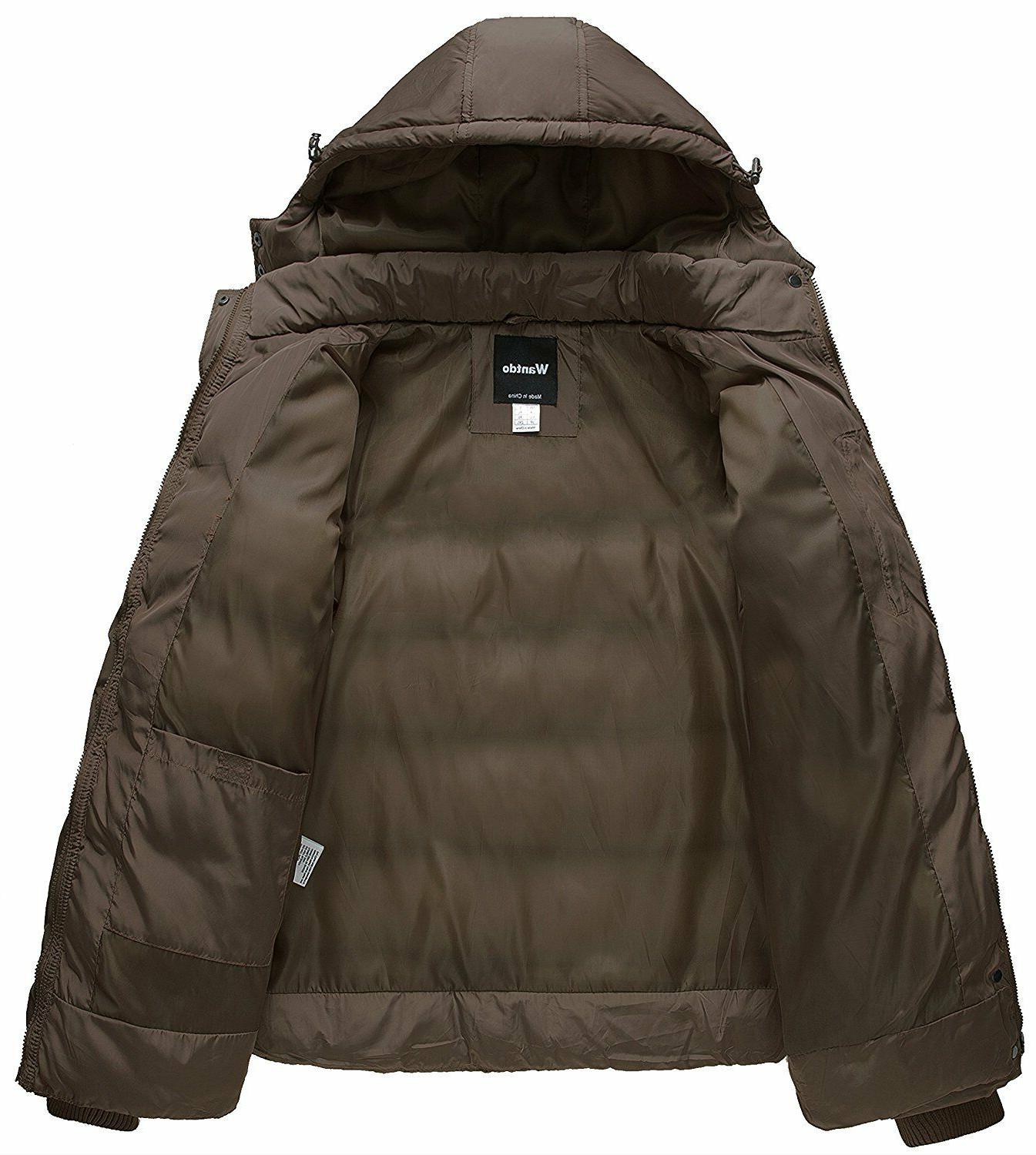 Wantdo Winter Cotton Puffer with Removable Hood