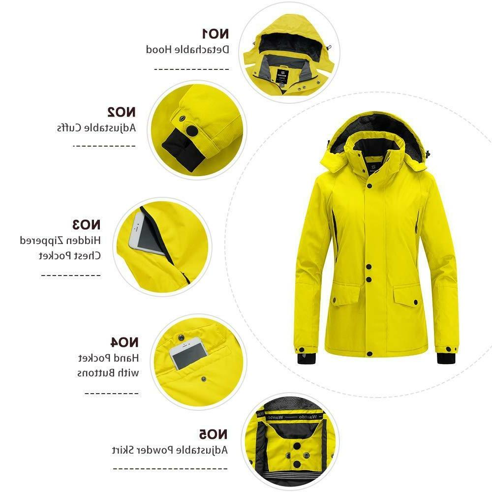Wantdo Women's Coat Waterproof Hooded