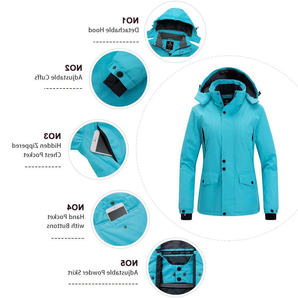 Wantdo Mountain Rain Jacket Windproof Coat Waterproof