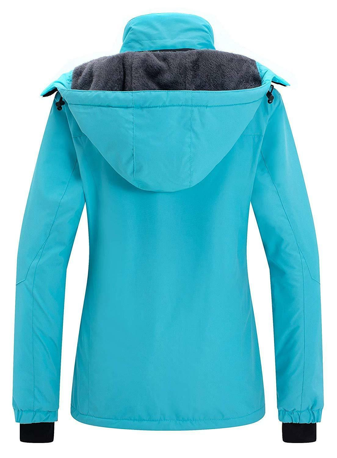 Wantdo Women's Mountain Rain Jacket Windproof Fleece Coat