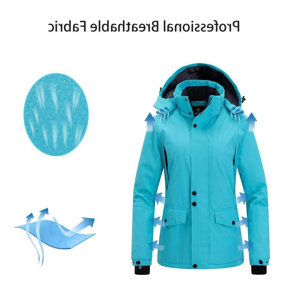 Wantdo Women's Rain Jacket Coat