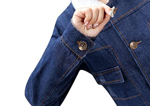 Tanming Women's Lined Jean Jacket Outerwear
