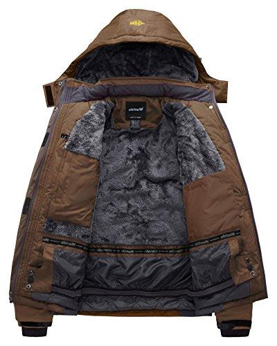 Wantdo Men's Waterproof Mountain Jacket Fleece Jacket US L Coffee L