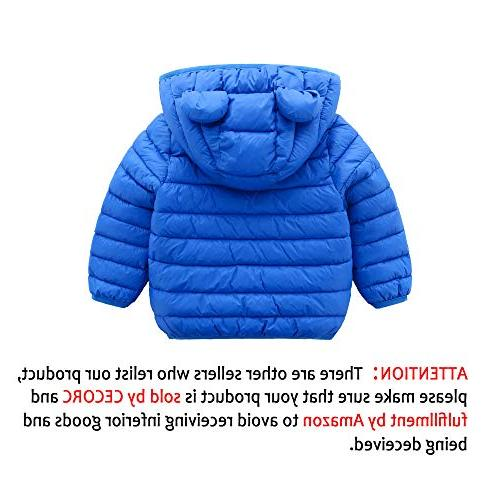 CECORC Winter Coats Kids with Hoods Light Puffer Jacket Warmth, Travel, | Boys | Baby, 4T ,