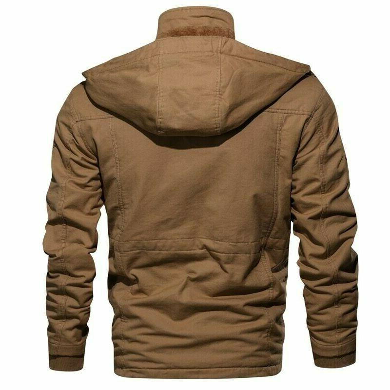 Winter Military Tactical Jacket Hooded Masculina