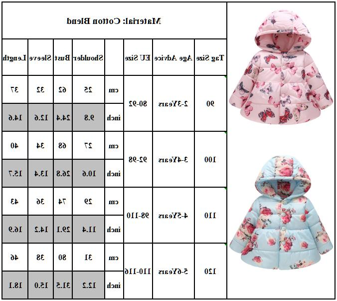 Kids Winter Warm Coat Hoodie Padded Jacket