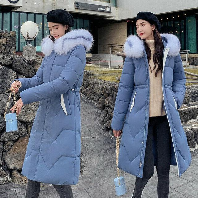 Winter Long Down Cotton Hooded Large Parka