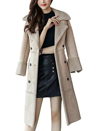 Tanming Women's Winter Lined Coat Outerwear