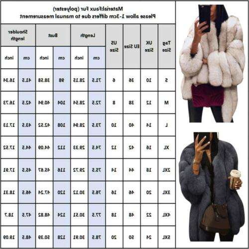 Winter Women Fur Thick Warm Outerwear Coat Overcoat Top