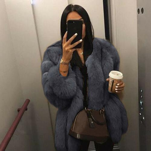 Winter Women Fur Warm Outerwear Top
