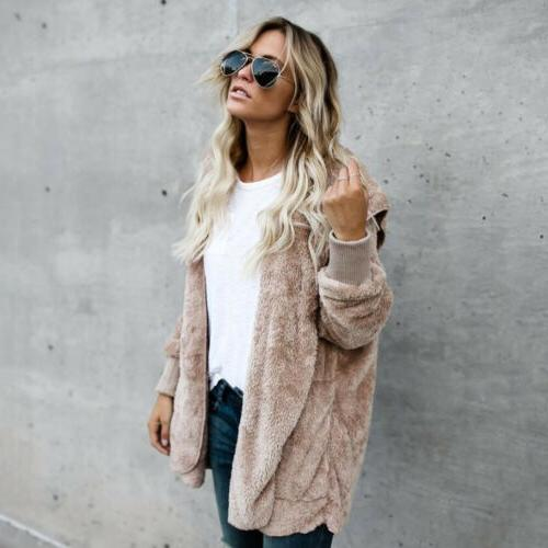 Winter Fuzzy Coats Jacket Sweater Long