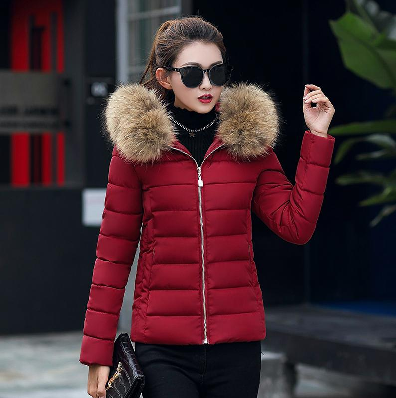 Winter Women Plus Size Jackets Fur Hooded Padded Vests