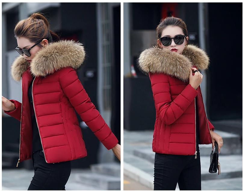 Winter Plus Size Jackets Fur Collar Hooded Vests