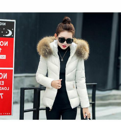 Winter Down Parka Coat Ladies Quilted Jacket