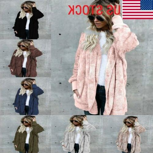 Winter Women's Loose Knitted Outwear Coat Top