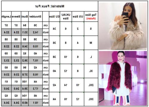 Winter Coat Faux Fur Parka Overcoat Celeb Party