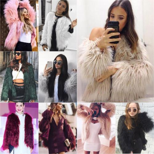 Winter Faux Fur Outwear Overcoat Outerwear