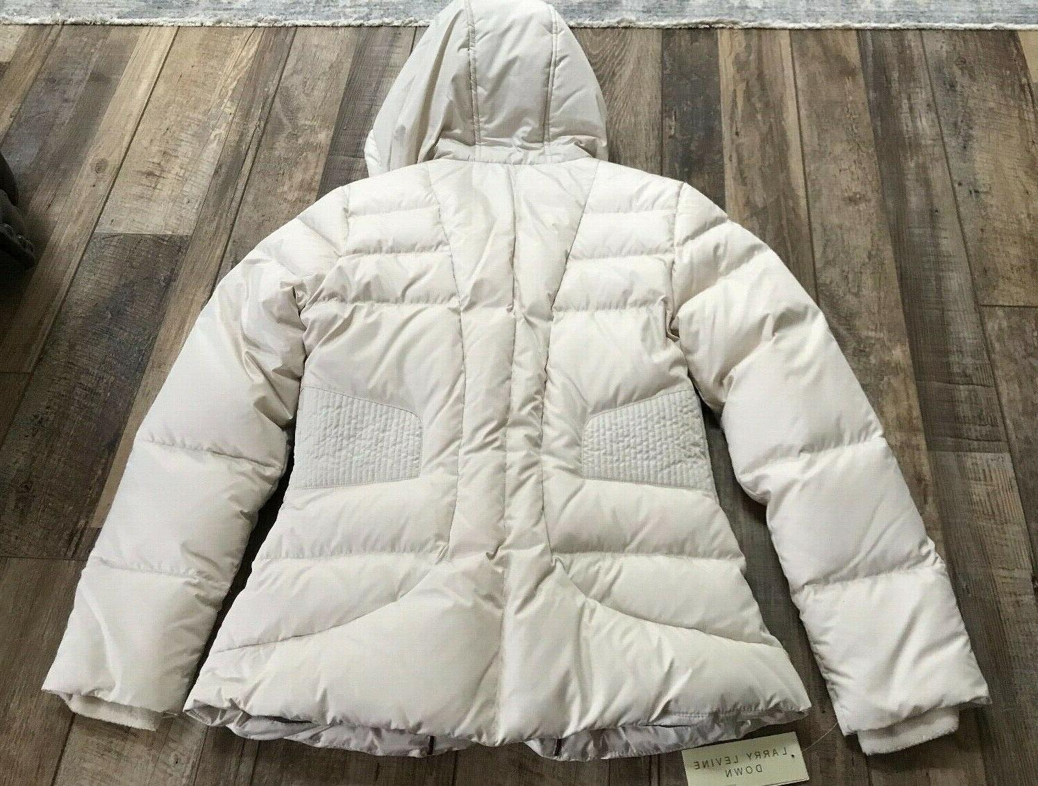 Larry Levine Off/White Down NWT Size M - Coat