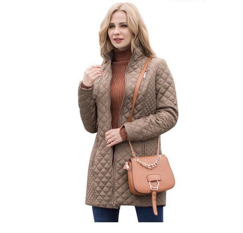 Women Autumn Casual Padded Coats Size Jackets New