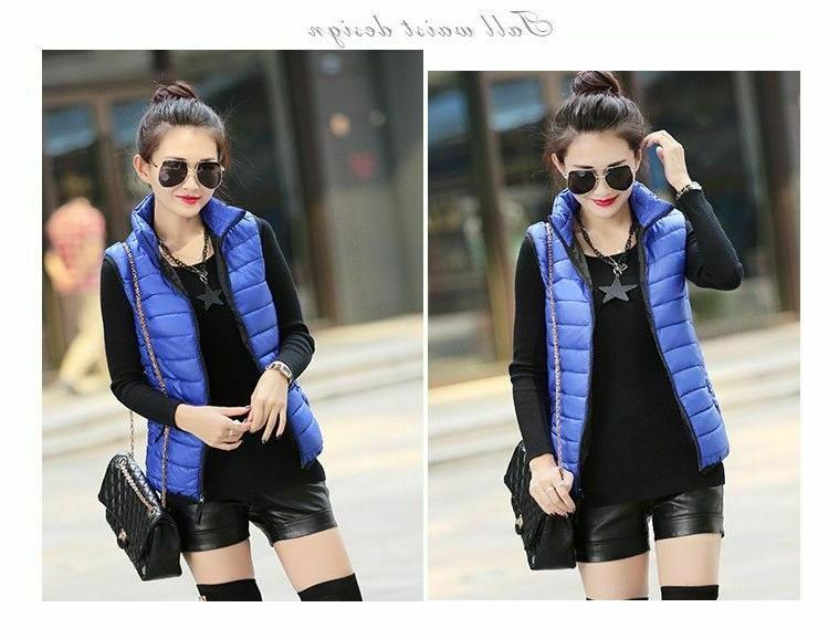 Women Cotton Sleeveless Jackets Waistcoat Autumn