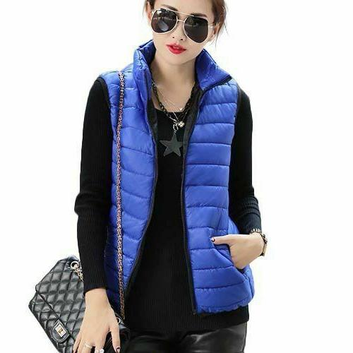 Women Cotton Sleeveless Ladies Casual Waistcoat Autumn Winter
