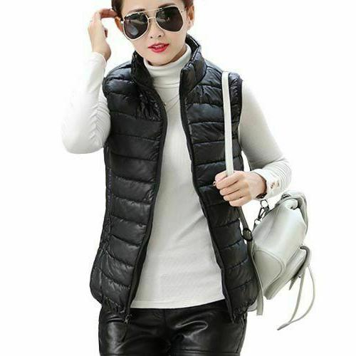 women cotton vest coats sleeveless jackets ladies