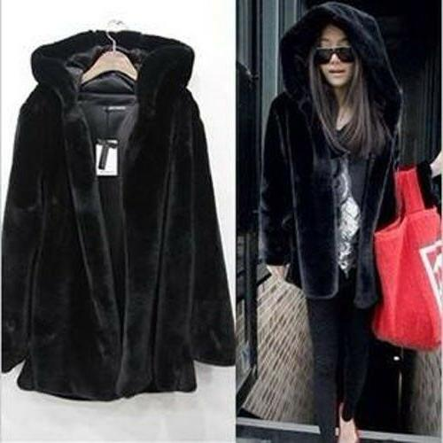 Plus Size Fur Jackets Hoodie Parka Warm Outwear
