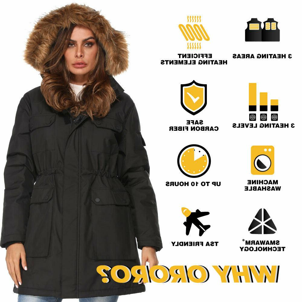 ORORO Women Parka Winter Coat Full-Length Jacket With Pack