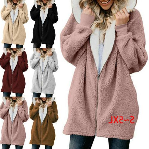 Women Hooded Sweatshirt Coat Sweaters Winter