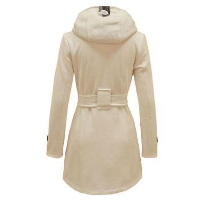 Women Ladies Winter Trench Peacoat Trench Dress