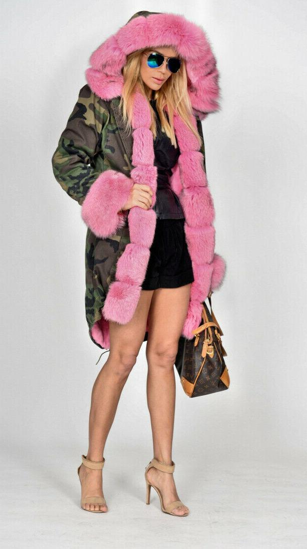 Roiii Warm Coat Hooded Faux Fur